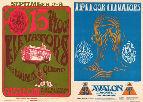 avalon ballroom posters 13th floor elevators
