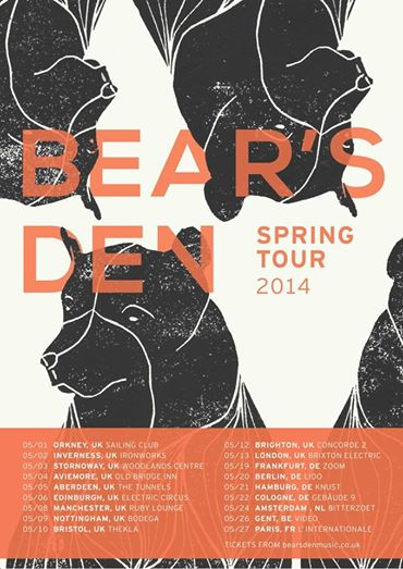 BEAR'S DEN - Live at the Bodega 9th May