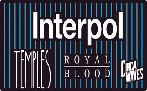 INTERPOL....TEMPLES....ROYAL BLOOD....CIRCA WAVES....NME Awards Tour Rock City Sunday 23rd March