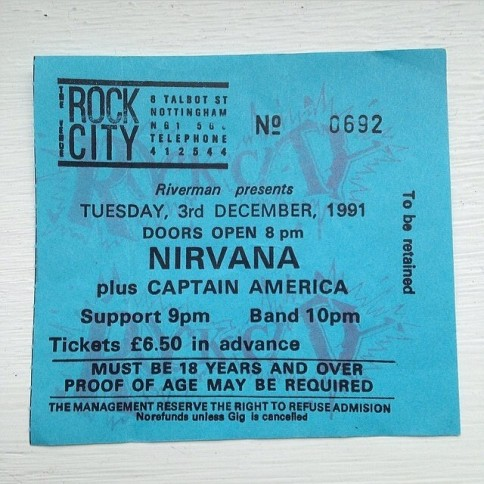 nirvana ticket