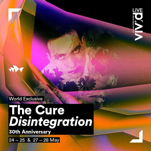 """Image result for The CURE – """" Disintegration The Album """" Live At The Sydney Opera House poster"""